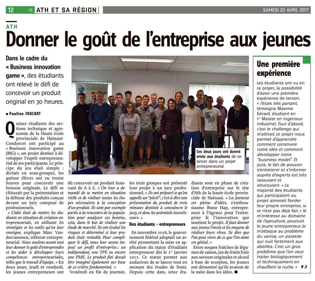 Courrier de lEscaut article journal